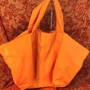 X-large Christopher Kon Orange soft leather bag🍊